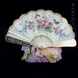 Meissen Invitation or Menu Holder, Handpainted.
