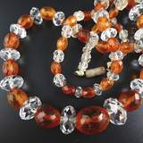 Amber and Crystal Vintage Necklace.