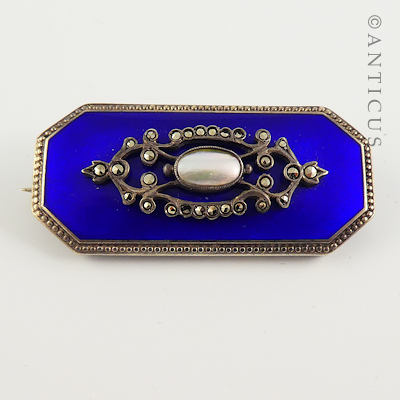 Beautiful Edwardian Enamel Brooch.