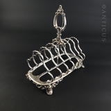Victorian Silver Plate Toastrack.