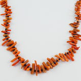 Antique Coral Spike Necklace.