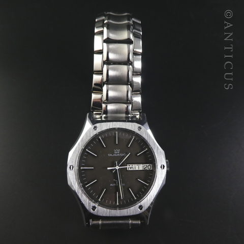 Ducado Gent's Watch, Stainless Steel, Manual Wind, 1970s.