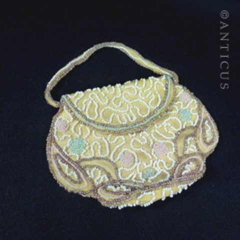 Beaded Evening Bag, Belgian, 1920s-30s.