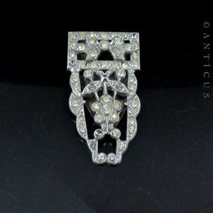 Art Deco Diamante Dress Clip, 1930s.