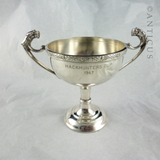 Small Silver Plate Trophy Cup, Elegant Shape.