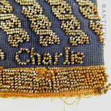 Beaded Miser's Purse, with Steel Beads.