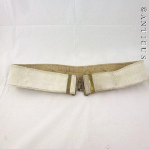 Canvas Soldier or Bandsman's  Belt, Brass Fittings.