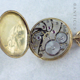 Ladies Small Gold Fob Watch, 1920s.