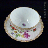 Dresden Handpainted Cup and Saucer.