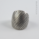 "Sterling Silver ""Dots"" Ring."