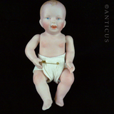 Bisque Small Baby Doll, Jointed.