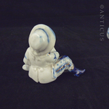 Two Small Edwardian Porcelain Figurines, Match Holders.