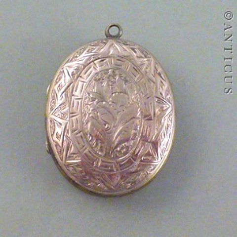 Rose Gold Victorian Locket.