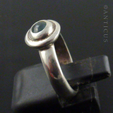 Sterling Silver and Round Stone Ring.