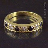 Vintage Ring, Sapphire and Diamond 18ct Gold.