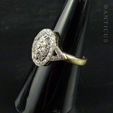 Pre-Owned Diamond and Gold Dress Ring.