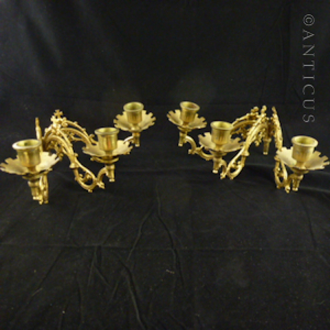 Candle Holders, Gilded Ormulu, from Piano.