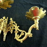 Pair of Candle Holders, Gilded Ormulu, from Piano.