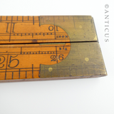 Rabone Folding Long Ruler, Brass Mounted.