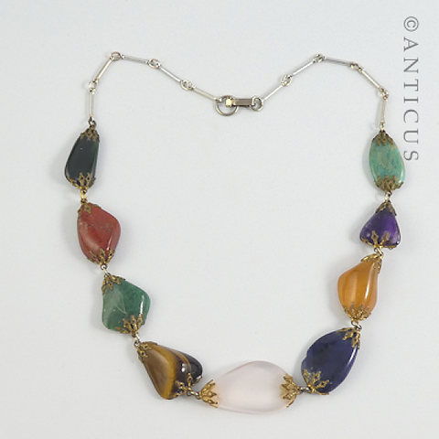 Natural Semi-Precious Stones Necklace.
