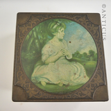 "Vintage Thorne's Toffee Tin, ""The Age of Innocence""."