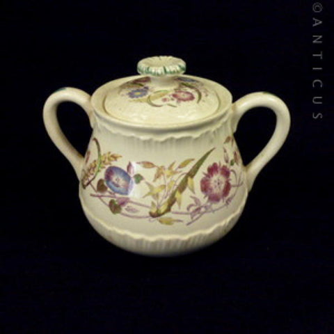 Wedgwood Cornflower of Etruria Lidded Sugar Bowl.