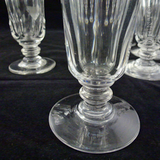 Six 19th Century Cordial or Jelly Glasses.