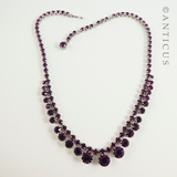 Amethyst Crystals Costume Necklace & Earrings.