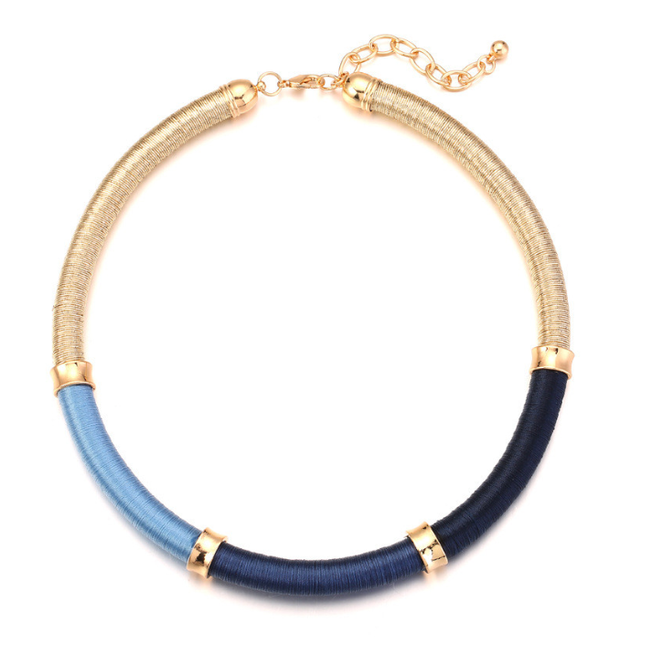 Collar Necklace in Blue