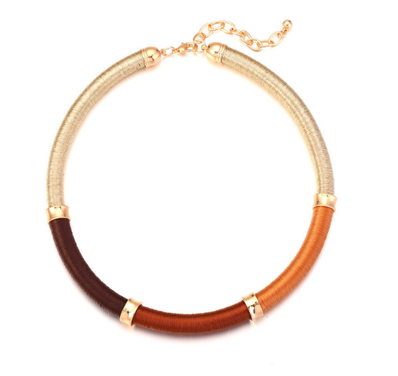 Collar Necklace in Orange
