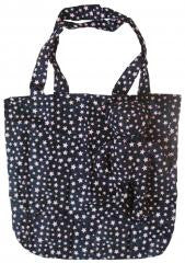 Fashion Lovely Bear Star Reusable Recycling Use Cotton Bag Black