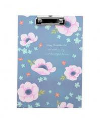 Cute Flower File Folder Writing ClipBoard Cactus Blue