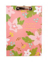 Cute Flower File Folder Writing ClipBoard Cactus Pink