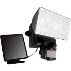 Solar-Powered 50-LED Motion-Activated Outdoor Security Floodlight (Black)