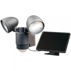 Dual-Head Solar Security Light (Dark Bronze)