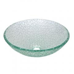Crystal Glass Vessel Bathroom Sink - Transparent