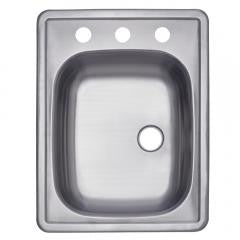 Single Bowl Self-rimming Bar Sink - Stainless Steel