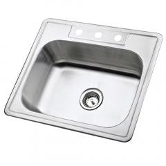 Single Bowl Self-rimming Kitchen Sink - Stainless Steel