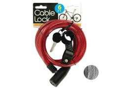Bicycle Cable Lock with Two Keys Case of 4