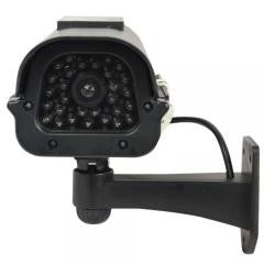Solar Powered Dummy Camera Black
