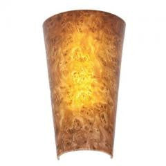 EL 5 LED Burlwood Wall Sconce