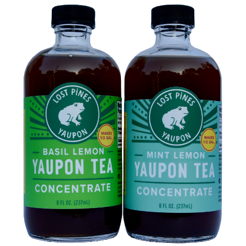 Buy basil lemon and mint lemon yaupon tea concentrate