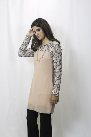 Sweet Romance Lace Top in Blush