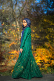 Emerald garden lace duster
