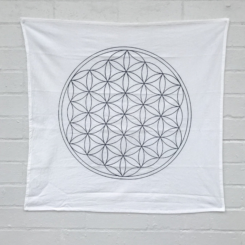 CRYSTAL GRID CLOTH: FLOWER OF LIFE - LARGE - the_raw_store