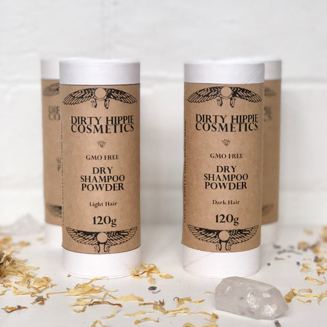 DRY SHAMPOO POWDER: LIGHT / DARK HAIR - DIRTY HIPPIE COSMETICS - the_raw_store