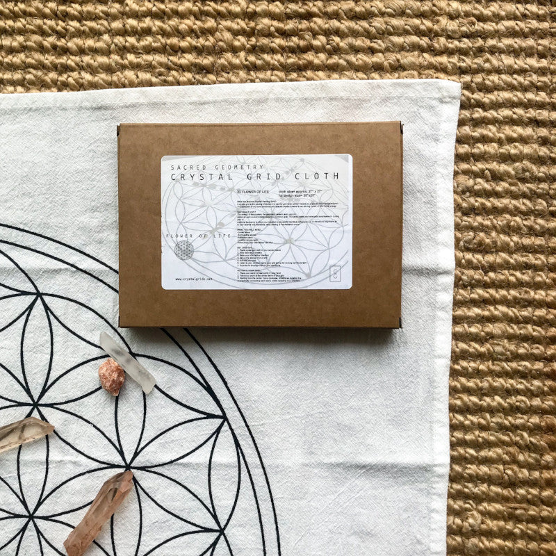 CRYSTAL GRID CLOTH: FLOWER OF LIFE - SMALL - the_raw_store