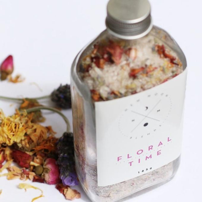 FLORAL TIME BATH SOAK - NEW MOON BLENDS - the_raw_store