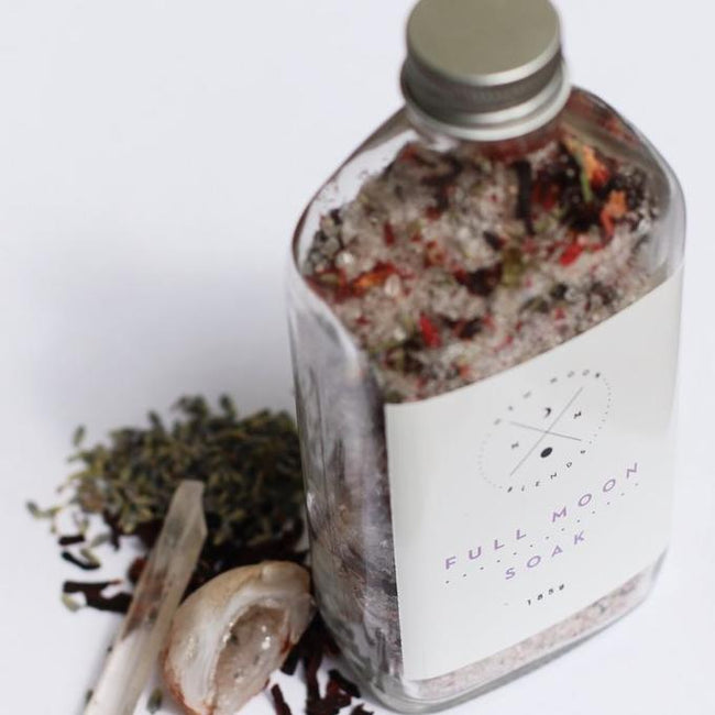 FULL MOON BATH SOAK - NEW MOON BLENDS - the_raw_store