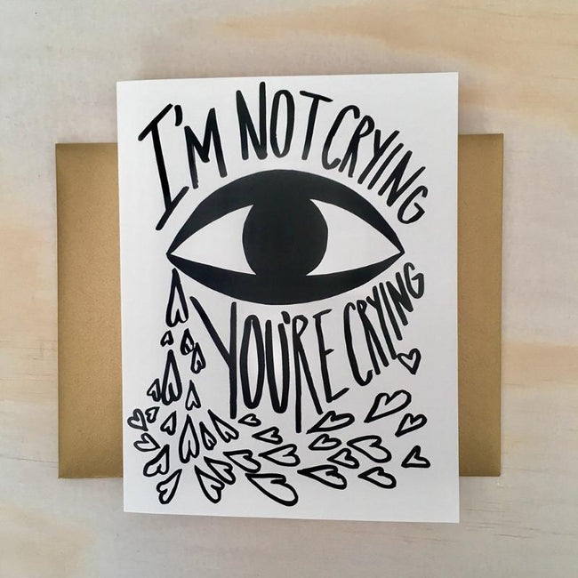 I'M NOT CRYING CARD - NATIVE BEAR - the_raw_store